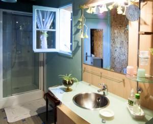 la salle d'eau de la chambre verte